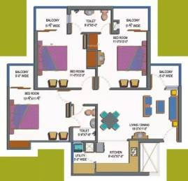 1380 sqft, 3 bhk Apartment in Paramount Emotions Sector 1 Noida Extension, Greater Noida at Rs. 12000