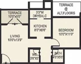 638 sqft, 1 bhk Apartment in DNV Elite Homes Tathawade, Pune at Rs. 30.0000 Lacs
