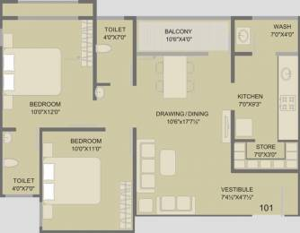 1080 sqft, 2 bhk Apartment in Swati Residency 5 Chandkheda, Ahmedabad at Rs. 30.0000 Lacs