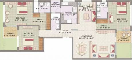 1675 sqft, 3 bhk Apartment in Jaypee Pavilion Heights Sector 128, Noida at Rs. 1.1500 Cr