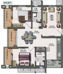 1270 sqft, 2 bhk Apartment in Vertex Panache Kokapet, Hyderabad at Rs. 62.2173 Lacs