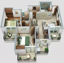 1165 sqft, 2 bhk Apartment in ATS Homekraft Happy Trails Sector 10 Noida Extension, Greater Noida at Rs. 9000