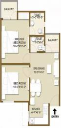 755 sqft, 2 bhk Apartment in Panchsheel Hynish Sector 1 Noida Extension, Greater Noida at Rs. 7000