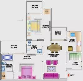 955 sqft, 2 bhk Apartment in Nirala Estate Techzone 4, Greater Noida at Rs. 8000
