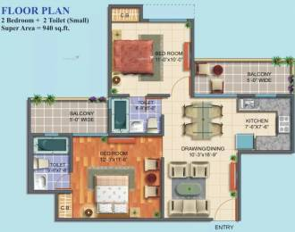 940 sqft, 2 bhk Apartment in Maxblis White House II Sector 75, Noida at Rs. 46.0000 Lacs