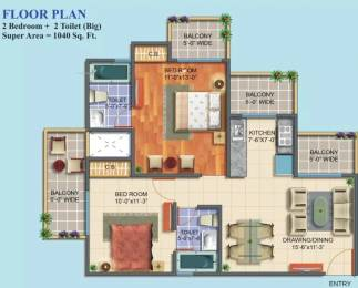 1040 sqft, 2 bhk Apartment in Maxblis White House II Sector 75, Noida at Rs. 51.0000 Lacs