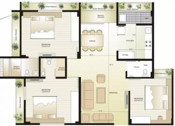 1728 sqft, 3 bhk Apartment in Swagat Flamingo Sargaasan, Gandhinagar at Rs. 17000
