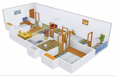 1203 sqft, 3 bhk Apartment in Aspirations Serenity Kustia, Kolkata at Rs. 22000