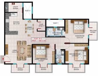 1416 sqft, 3 bhk Apartment in Aryan Build Estates Pvt Ltd Faery Thanisandra, Bangalore at Rs. 70.0000 Lacs