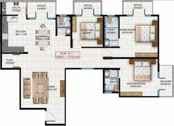 1772 sqft, 3 bhk Apartment in Aryan Build Estates Pvt Ltd Faery Thanisandra, Bangalore at Rs. 79.0000 Lacs