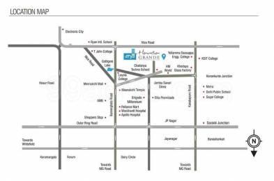 1518 sqft, 3 bhk Apartment in Arya Hamsa JP Nagar Phase 8, Bangalore at Rs. 88.0000 Lacs