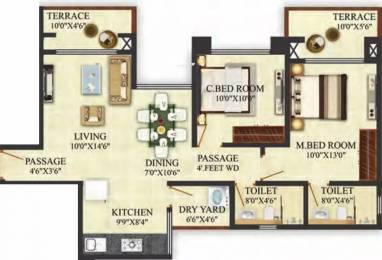 999 sqft, 2 bhk Apartment in Puraniks Aldea Anexo Baner, Pune at Rs. 53.0000 Lacs
