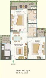 1065 sqft, 2 bhk Apartment in MR Shalimar City Pasaunda, Ghaziabad at Rs. 42.0000 Lacs