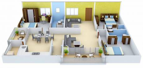 2190 sqft, 3 bhk Apartment in EIPL Skyila Puppalaguda, Hyderabad at Rs. 94.1700 Lacs