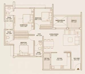 1424 sqft, 3 bhk Apartment in Pride World City Lohegaon, Pune at Rs. 19200