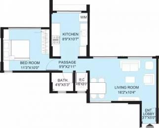 660 sqft, 1 bhk Apartment in Pride Purple Park Springs Lohegaon, Pune at Rs. 13000