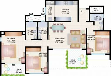 1354 sqft, 3 bhk Apartment in Bramha Skycity Dhanori, Pune at Rs. 22000