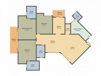 1790 sqft, 3 bhk Apartment in Mapsko Royale Ville Sector 82, Gurgaon at Rs. 81.5000 Lacs
