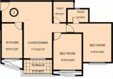 1175 sqft, 2 bhk Apartment in Karia Konark Exotica Wagholi, Pune at Rs. 45.0000 Lacs
