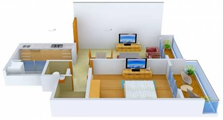 672 sqft, 1 bhk Apartment in Apex Marvel Ulwe, Mumbai at Rs. 6500