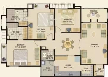 1872 sqft, 3 bhk Apartment in Rushabhdev Sharan Status Motera, Ahmedabad at Rs. 23000