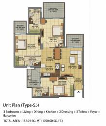 1700 sqft, 3 bhk Apartment in Gaursons Sports Wood Sector 79, Noida at Rs. 20000