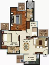 1155 sqft, 2 bhk Apartment in Prateek Grand Paeonia Pratap Vihar, Ghaziabad at Rs. 50.0000 Lacs