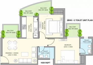 1020 sqft, 2 bhk Apartment in Supertech Azalia Sector 68, Gurgaon at Rs. 69.5000 Lacs
