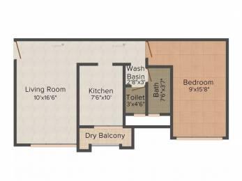 785 sqft, 1 bhk Apartment in SD Ekta Suprabhat Goregaon West, Mumbai at Rs. 28000