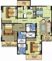 1633 sqft, 3 bhk Apartment in BRG Nirvana Arcade Manglia, Indore at Rs. 10000