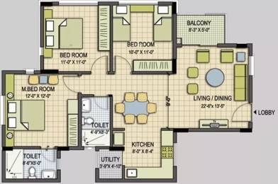 1180 sqft, 3 bhk Apartment in Provident Welworth City Doddaballapur, Bangalore at Rs. 55.0000 Lacs