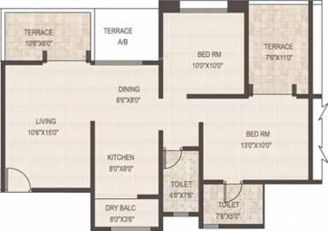1065 sqft, 2 bhk Apartment in GK Rose Woods Pimple Saudagar, Pune at Rs. 20000