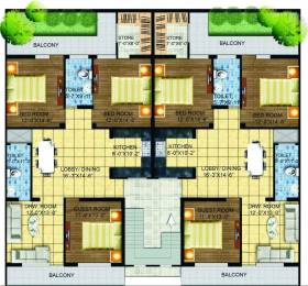1650 sqft, 3 bhk Apartment in A2Z Green Estate Modi Puram, Meerut at Rs. 44.0000 Lacs