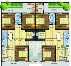1650 sqft, 3 bhk Apartment in A2Z Green Estate Modi Puram, Meerut at Rs. 44.0000 Lacs