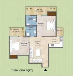 570 sqft, 2 bhk Apartment in Adore Samriddhi Sector 89, Faridabad at Rs. 23.3000 Lacs