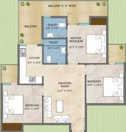 645 sqft, 3 bhk Apartment in Adore Samriddhi Sector 89, Faridabad at Rs. 26.3000 Lacs