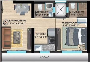 429 sqft, 1 bhk Apartment in Sethia Imperial Avenue Malad East, Mumbai at Rs. 65.0000 Lacs