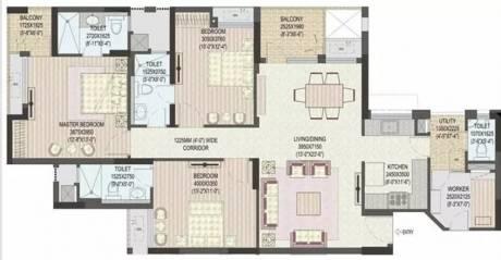 1715 sqft, 3 bhk Apartment in Jaypee Klassic Heights Sector 134, Noida at Rs. 9000