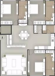 2733 sqft, 3 bhk Apartment in Milestone 7 Heaven Vesu, Surat at Rs. 25000