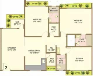1750 sqft, 3 bhk Apartment in Happy Home Nandanvan III Vesu, Surat at Rs. 64.0000 Lacs
