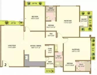 2041 sqft, 3 bhk Apartment in Happy Home Nandanvan III Vesu, Surat at Rs. 20000