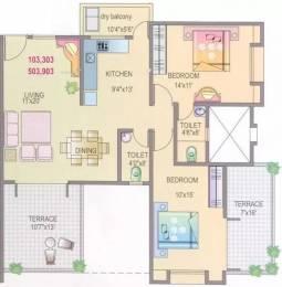 1210 sqft, 2 bhk Apartment in Yash Rhythm Kondhwa, Pune at Rs. 16000