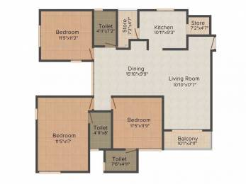 1485 sqft, 3 bhk Apartment in Applewoods Sorrel Shela, Ahmedabad at Rs. 48.0000 Lacs