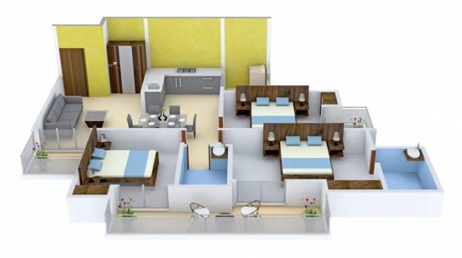 1495 sqft, 3 bhk Apartment in Gulshan Ikebana Sector 143, Noida at Rs. 85.0000 Lacs