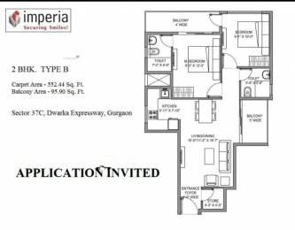 850 sqft, 2 bhk Apartment in Imperia Esfera Sector 37C, Gurgaon at Rs. 22.5771 Lacs