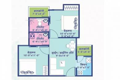 1200 sqft, 2 bhk Apartment in Elegant Vaishali Utsav Gandhi Path West, Jaipur at Rs. 10000