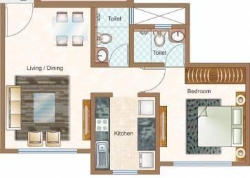 553 sqft, 1 bhk Apartment in Sheth Vasant Oasis Andheri East, Mumbai at Rs. 35000