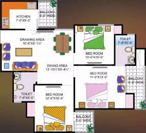 1350 sqft, 3 bhk Apartment in Super OXY Homez Indraprastha Yojna, Ghaziabad at Rs. 7500