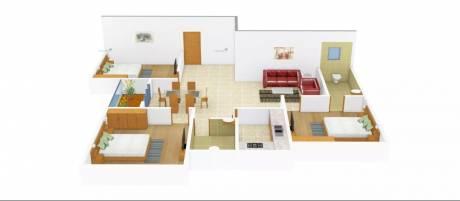 1330 sqft, 3 bhk Apartment in Siddha Town Madhyamgram Madhyamgram, Kolkata at Rs. 12000