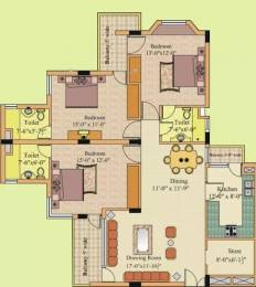 1650 sqft, 3 bhk Apartment in Gillco Towers Sector 127 Mohali, Mohali at Rs. 15000